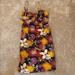 Never been worn floral cocktail dress from Anthro